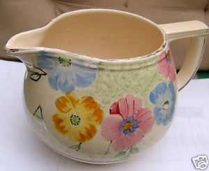 Arthur Wood Medium Jug - Spring Flowers Design - c1934